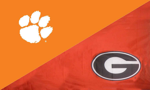 Clemson & Georgia House Divided Flag