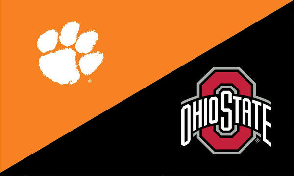 Clemson and The Ohio State University House Divided Flag