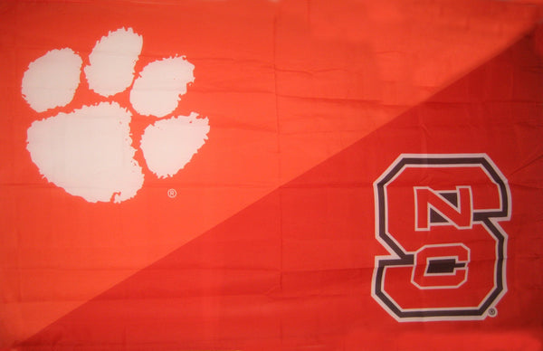 Clemson & North Carolina State House Divided Flag