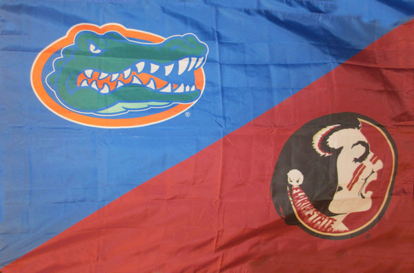 Florida & Florida State Silk Screened Flag