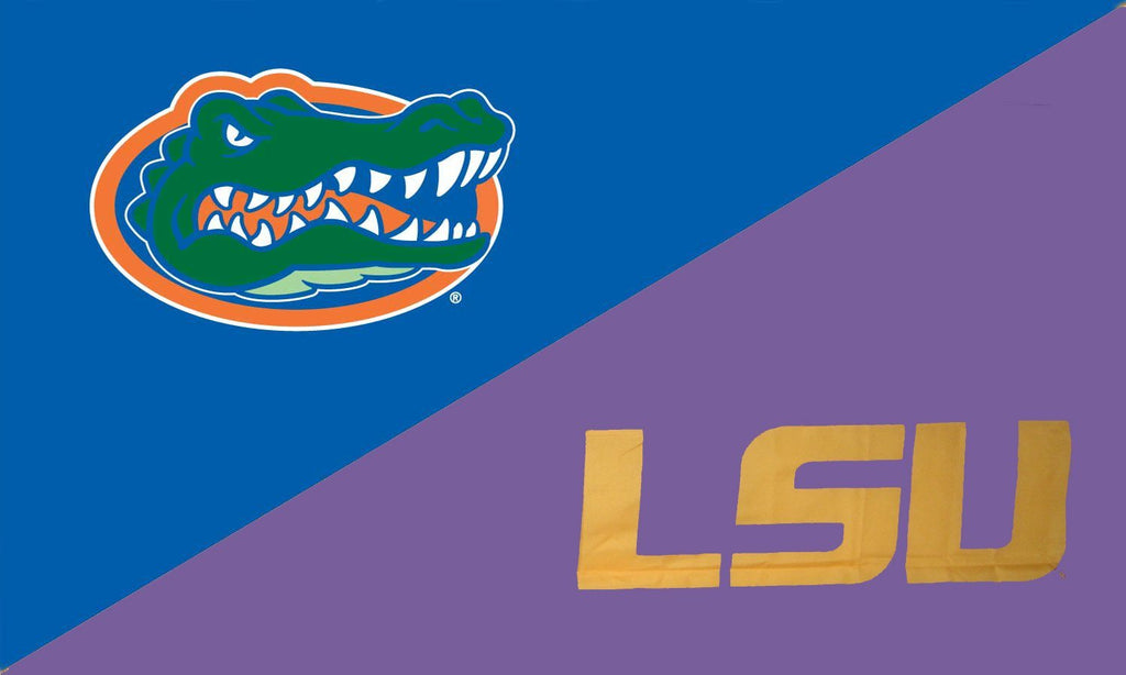 Florida & LSU House Divided Flag