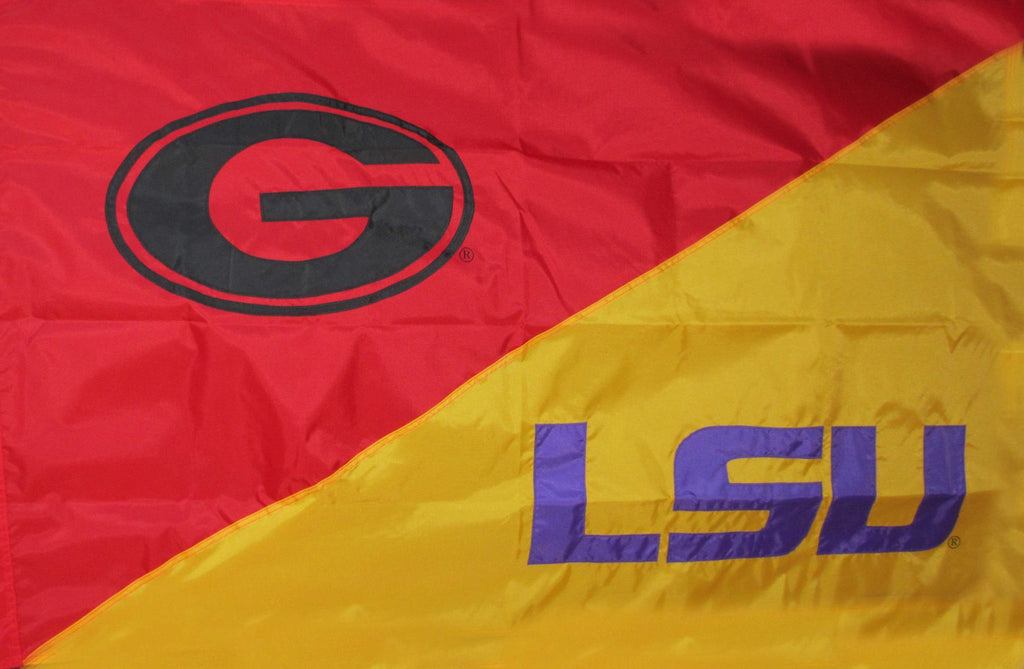 Georgia & LSU House Divided Flag