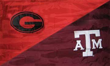 Georgia & Texas A&M House Divided Flag
