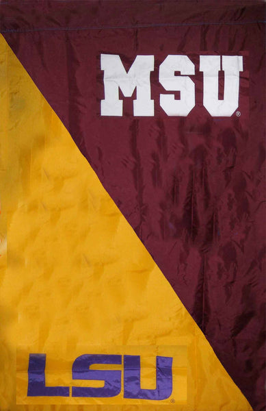 LSU & Mississippi State House Divided Banner Flag