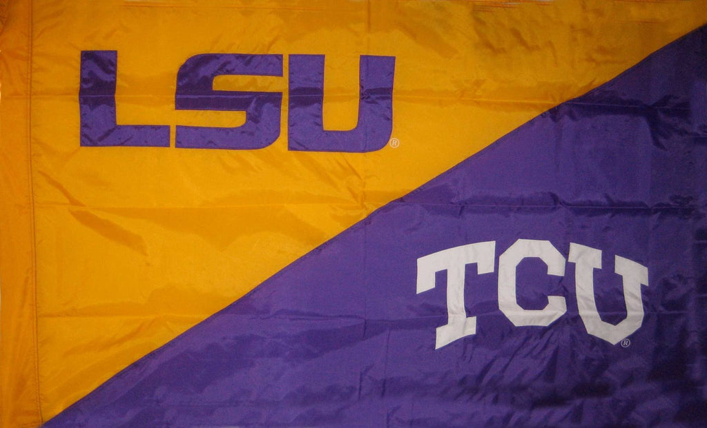 LSU & TCU House Divided Flag