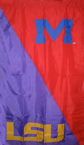 LSU & Ole Miss House Divided Banner Flag