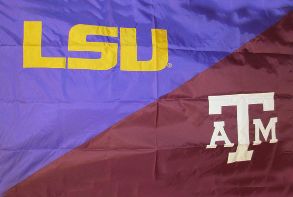 LSU and Texas A&M House Divided Flag