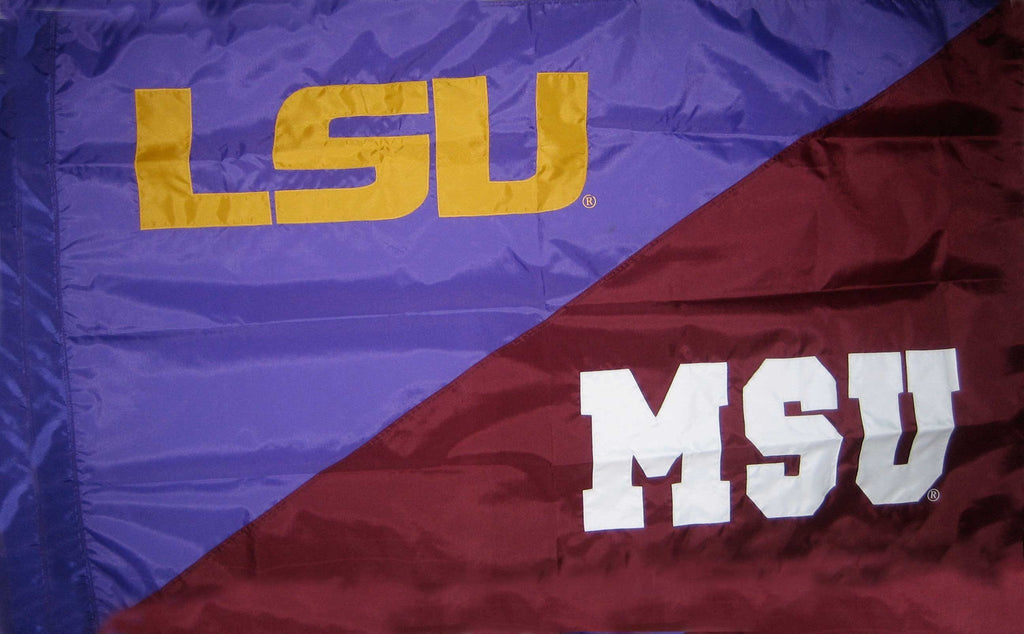 LSU & Mississippi State House Divided Flag