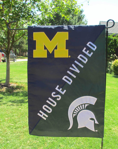 Michigan State & Michigan House Divided Garden Flag