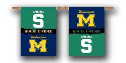 Michigan State & Michigan House Divdied Banner