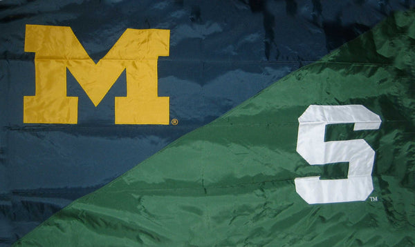 Michigan & Michigan State House Divided Flag