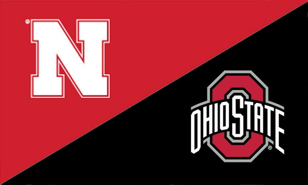 Nebraska and The Ohio State University House Divided Flag