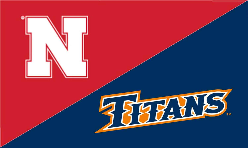 Nebraska & Cal State Fullerton House Divided Flag