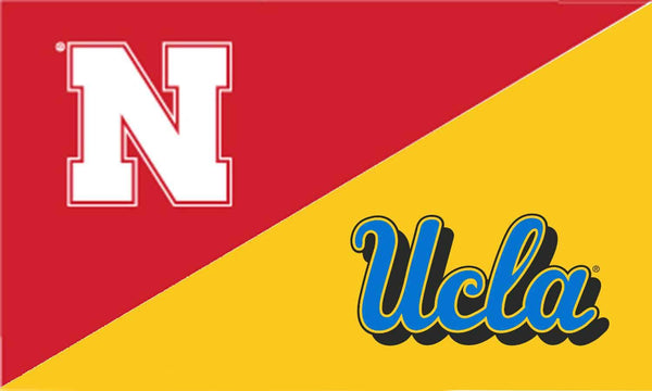 Nebraska & UCLA House Divided Flag