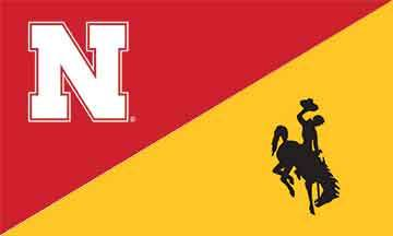 Nebraska & Wyoming House Divided Flag