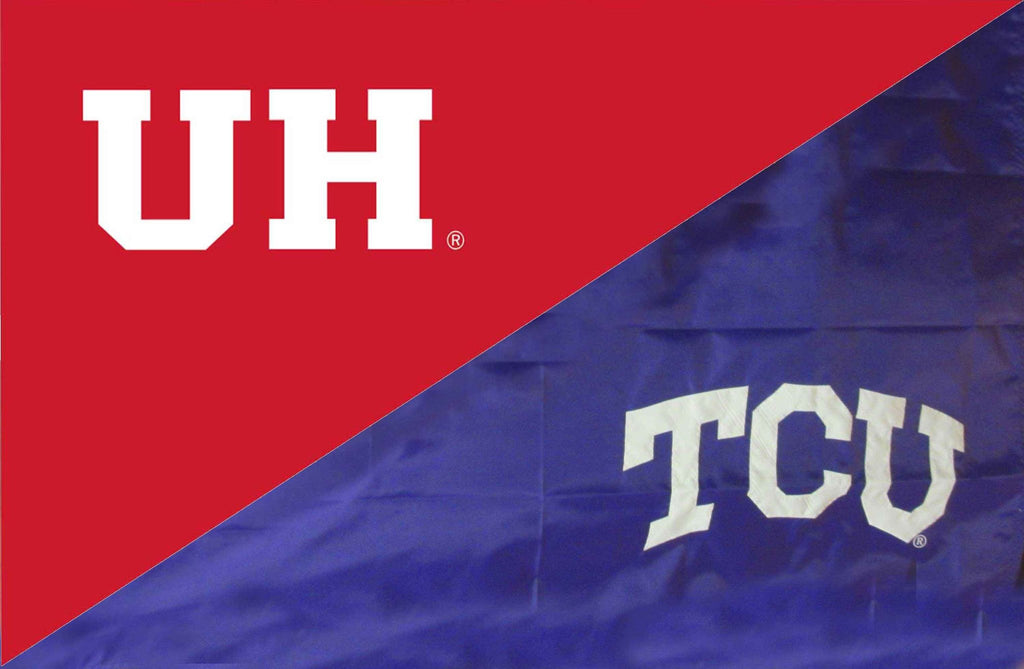 Houston & TCU House Divided Flag