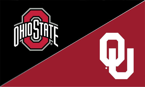 The Ohio State University and Oklahoma House Divided Flag