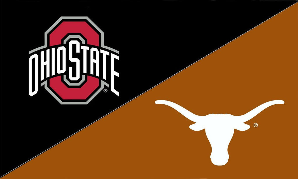 The Ohio State University and Texas House Divided Flag