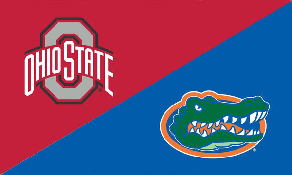 The Ohio State University and Florida House Divided Flag