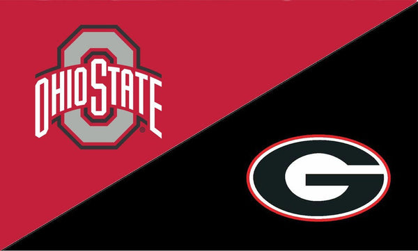 The Ohio State University and Georgia House Divided Flag