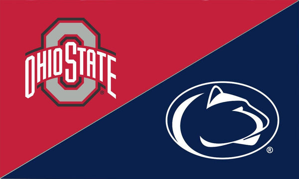The Ohio State University and Penn State House Divided Flag