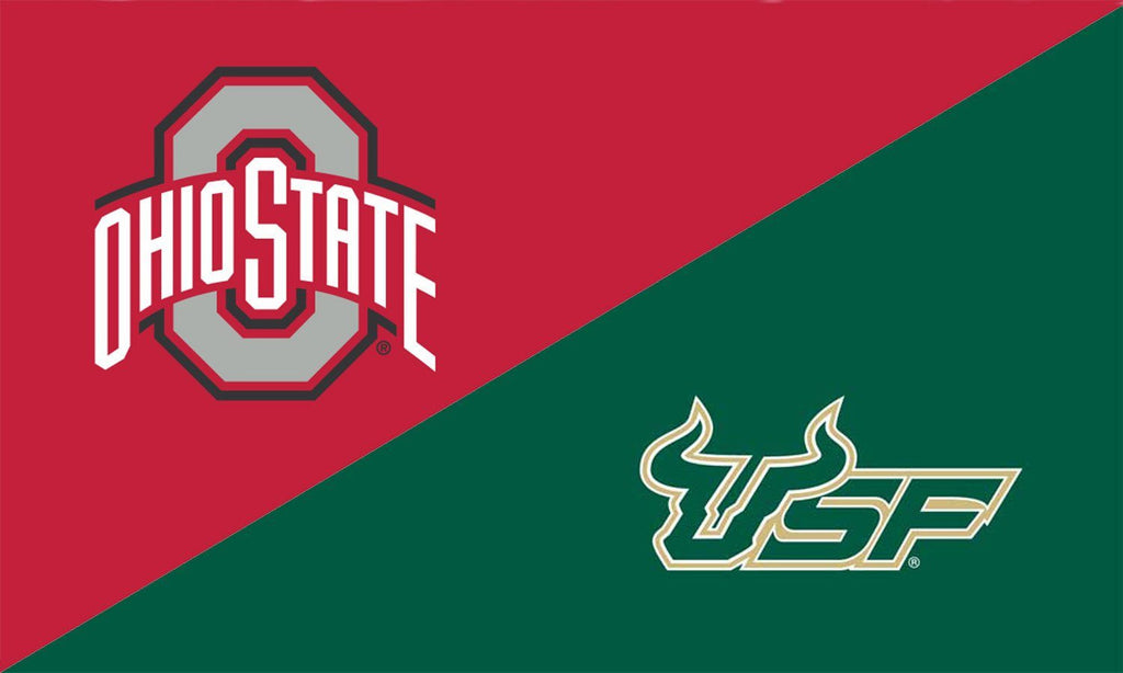 The Ohio State University and South Florida House Divided Flag