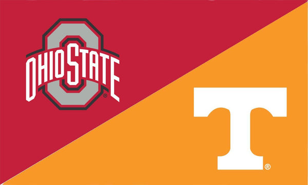 The Ohio State University and Tennessee House Divided Flag