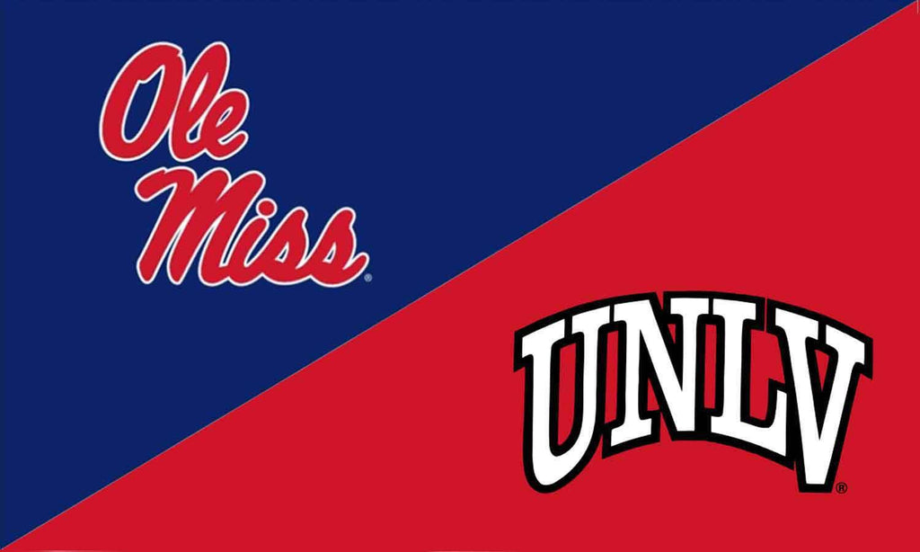 Ole Miss & UNLV House Divided Flag