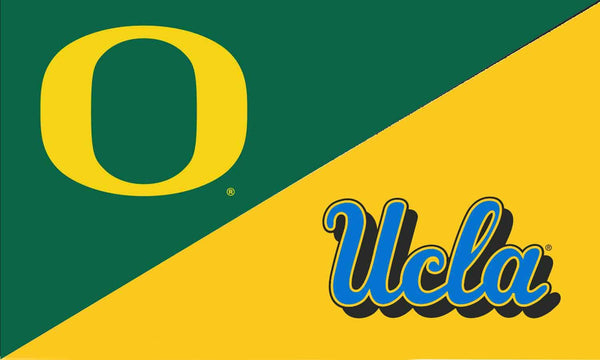 Oregon & UCLA House Divided Flag