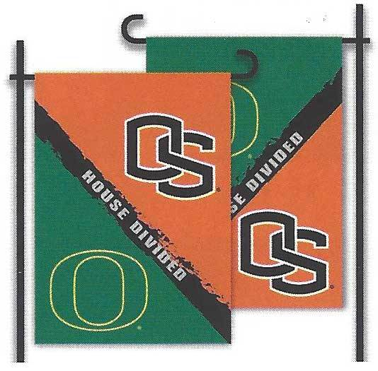 Oregon & Oregon State House Divided Garden Flag