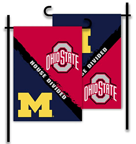 Michigan & Ohio State House Divided Garden Flag