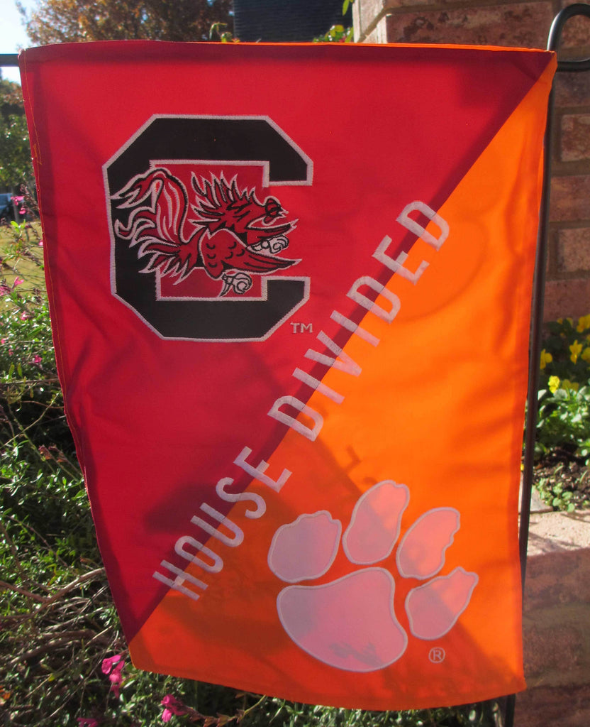 Clemson & South Carolina State House Divided Garden Flag