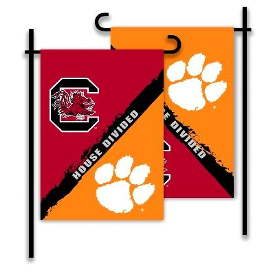 South Carolina State & Clemson House Divided Garden Flag