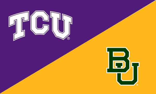 TCU & Baylor House Divided Flag