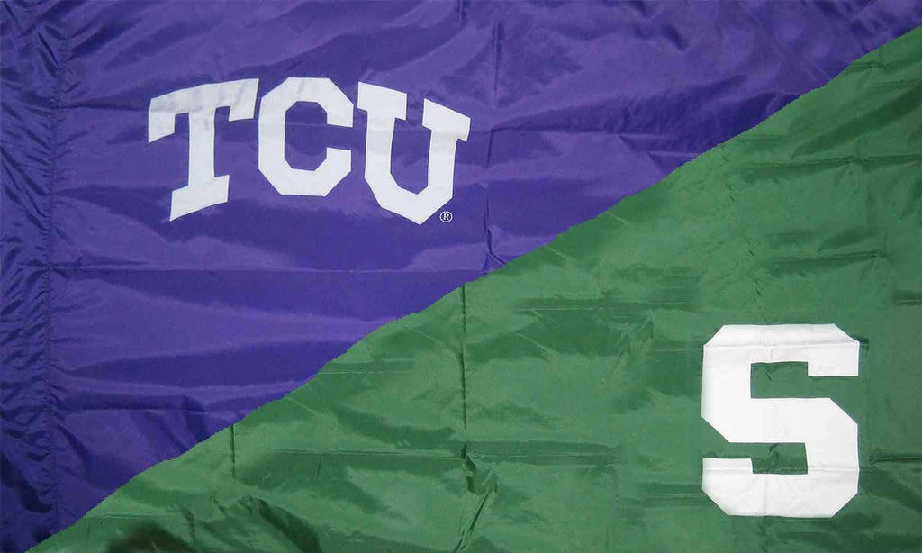 TCU & Michigan State House Divided Flag