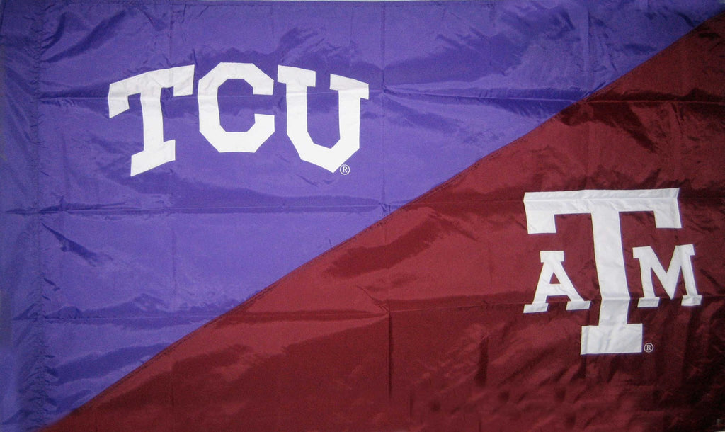 TCU & Texas A&M House Divided Flag