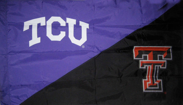 TCU & Texas Tech House Divided Flag