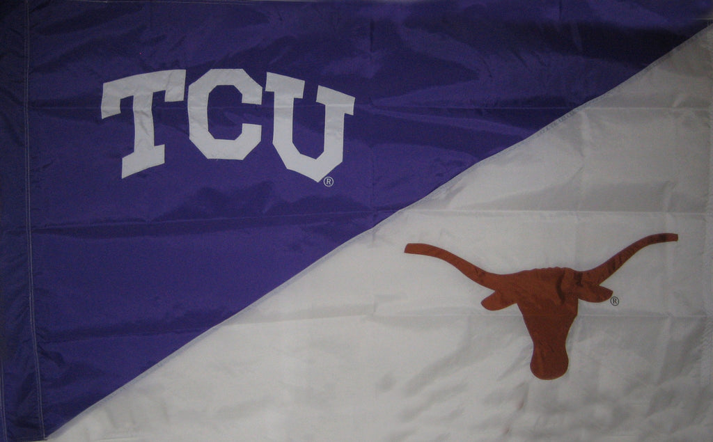 TCU & Texas House Divided Flag
