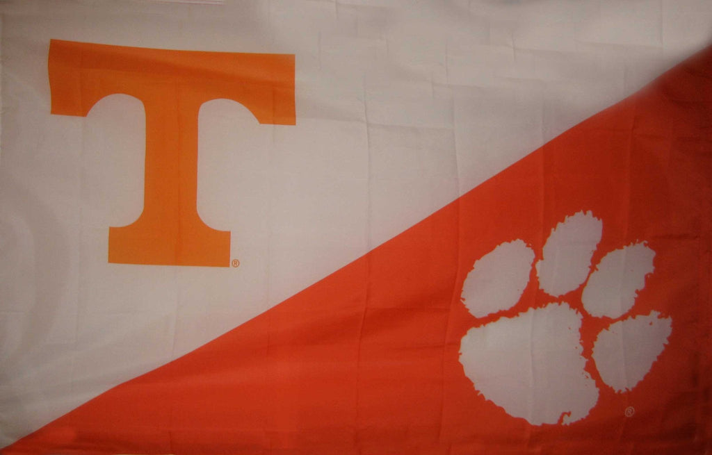 Tennessee & Clemson House Divided Flag
