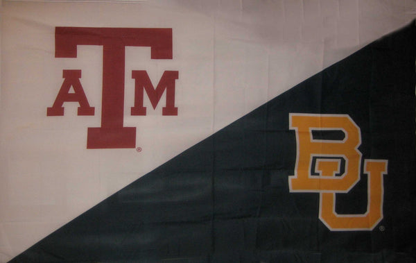 Texas A&M & Baylor House Divided Flag