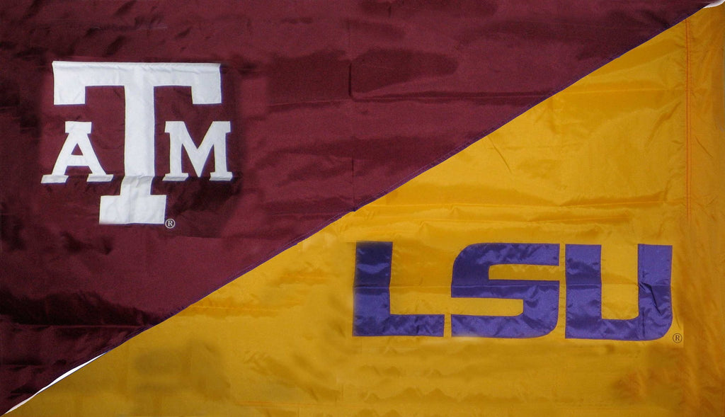 Texas A&M & LSU House Divided Flag