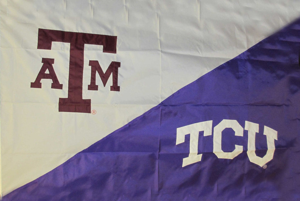 Texas A&M & TCU House Divided Flag