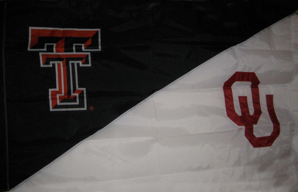Texas Tech & Oklahoma House Divided Flag