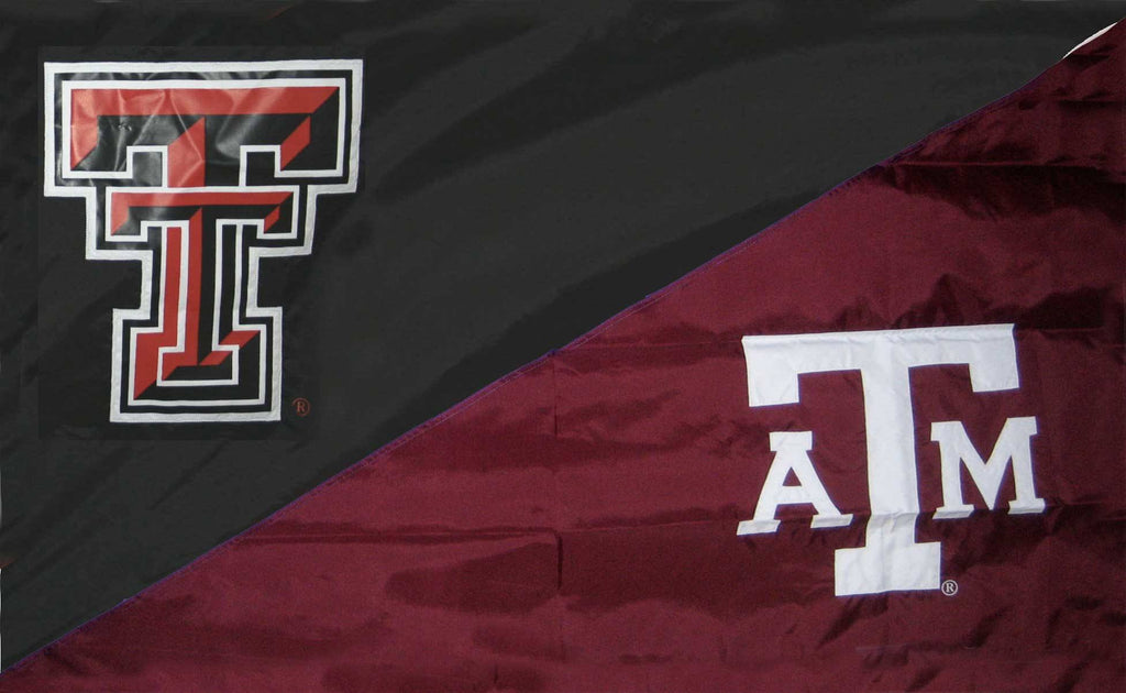 Texas Tech & Texas A&M House Divided Flag