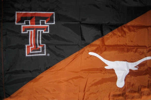 Texas Tech & Texas House Divided Flag