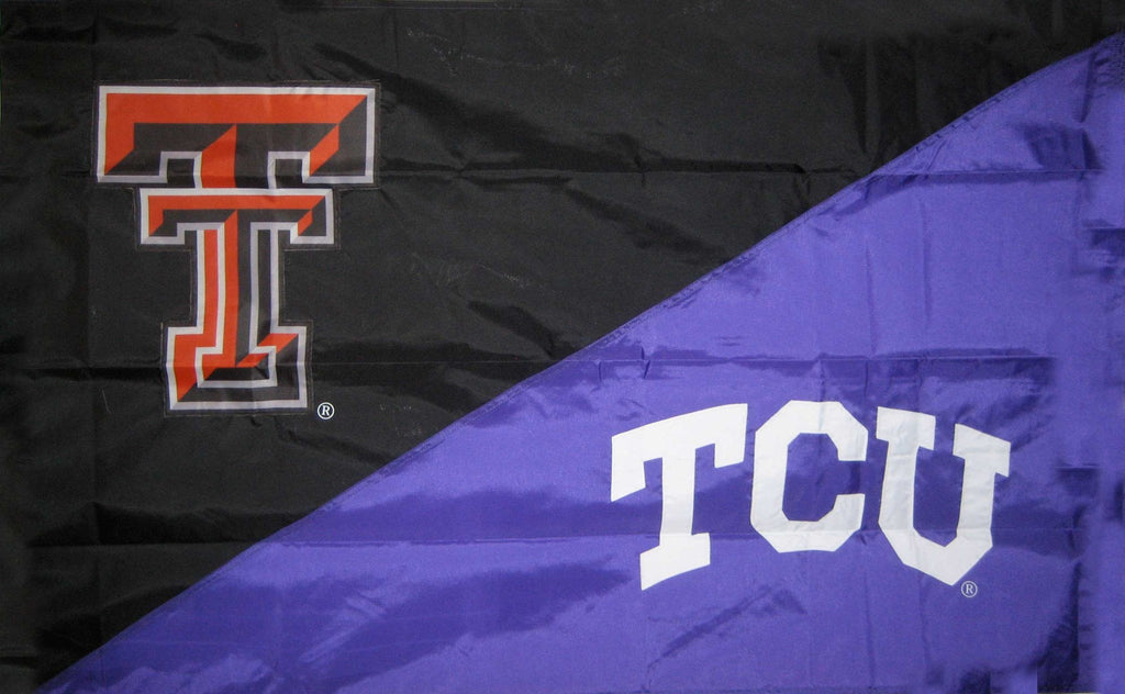Texas Tech & TCU House Divided Flag