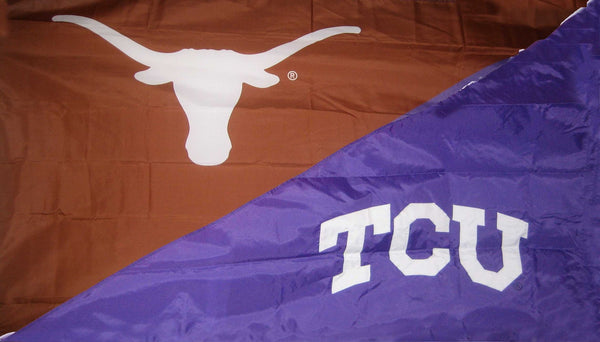 Texas & TCU House Divided Flag