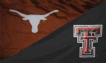 Texas & Texas Tech House Divided Flag