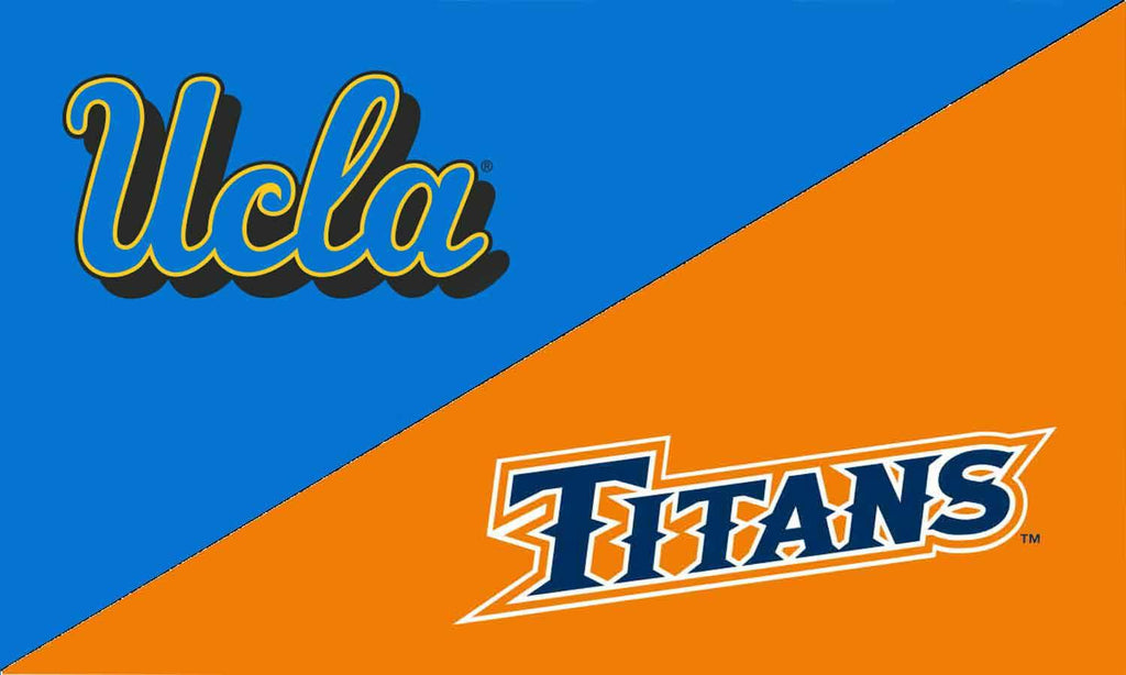 UCLA & Cal State Fullerton House Divided Flag