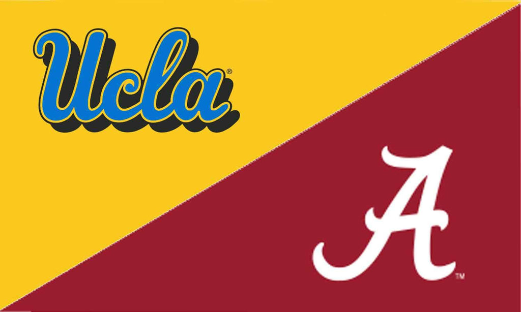 UCLA & Alabama House Divided Flag